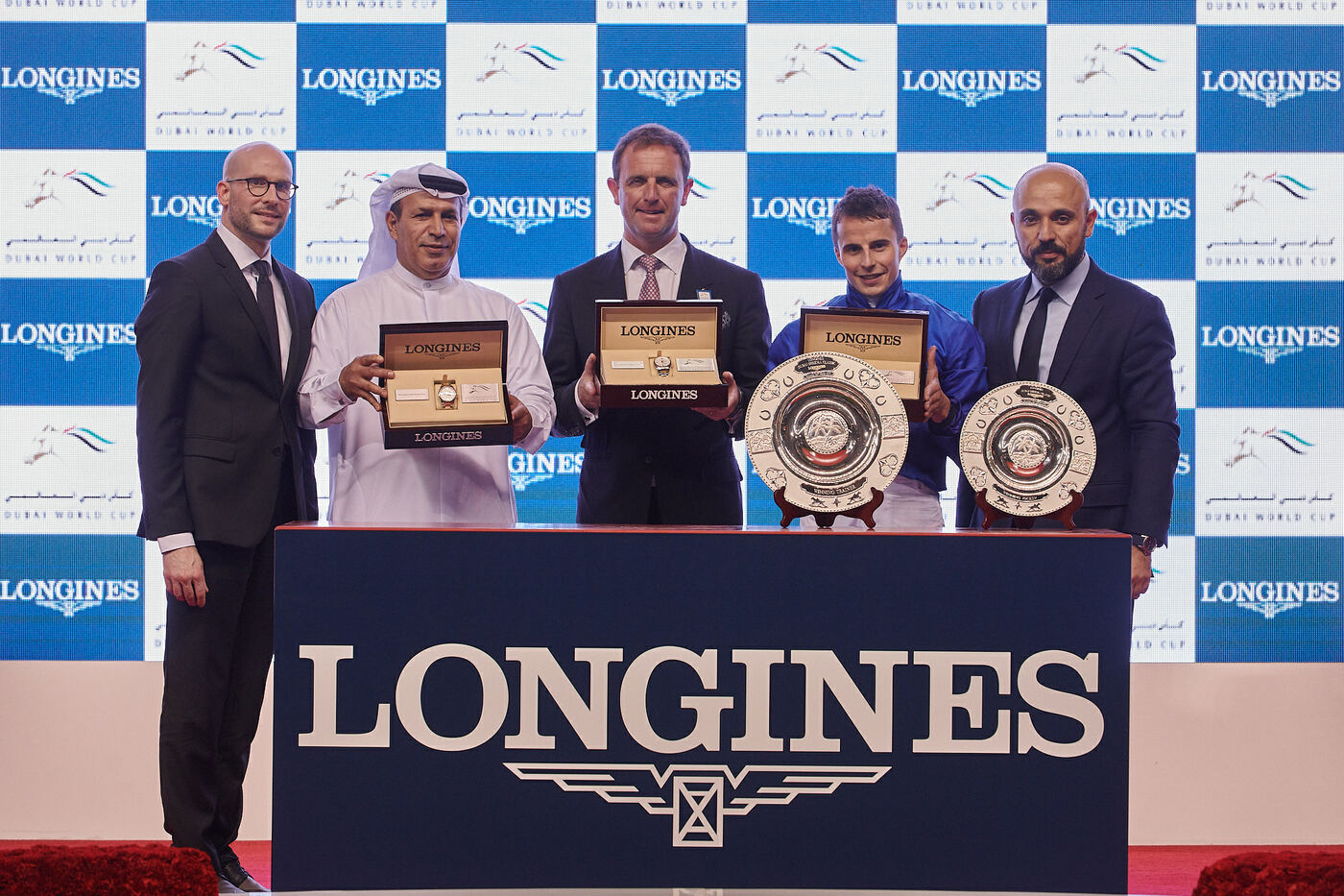 Longines Flat Racing Event: Swiss watch brand Longines honours the winners of  the Longines Dubai Sheema Classic 2