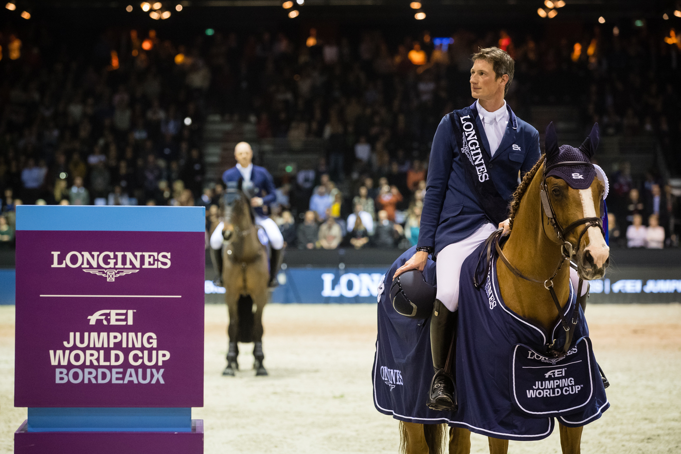 Longines Show Jumping Event: Daniel Deusser and Tobago Z claimed stunning victory at the Longines FEI Jumping World Cup™ leg in Bordeaux 1