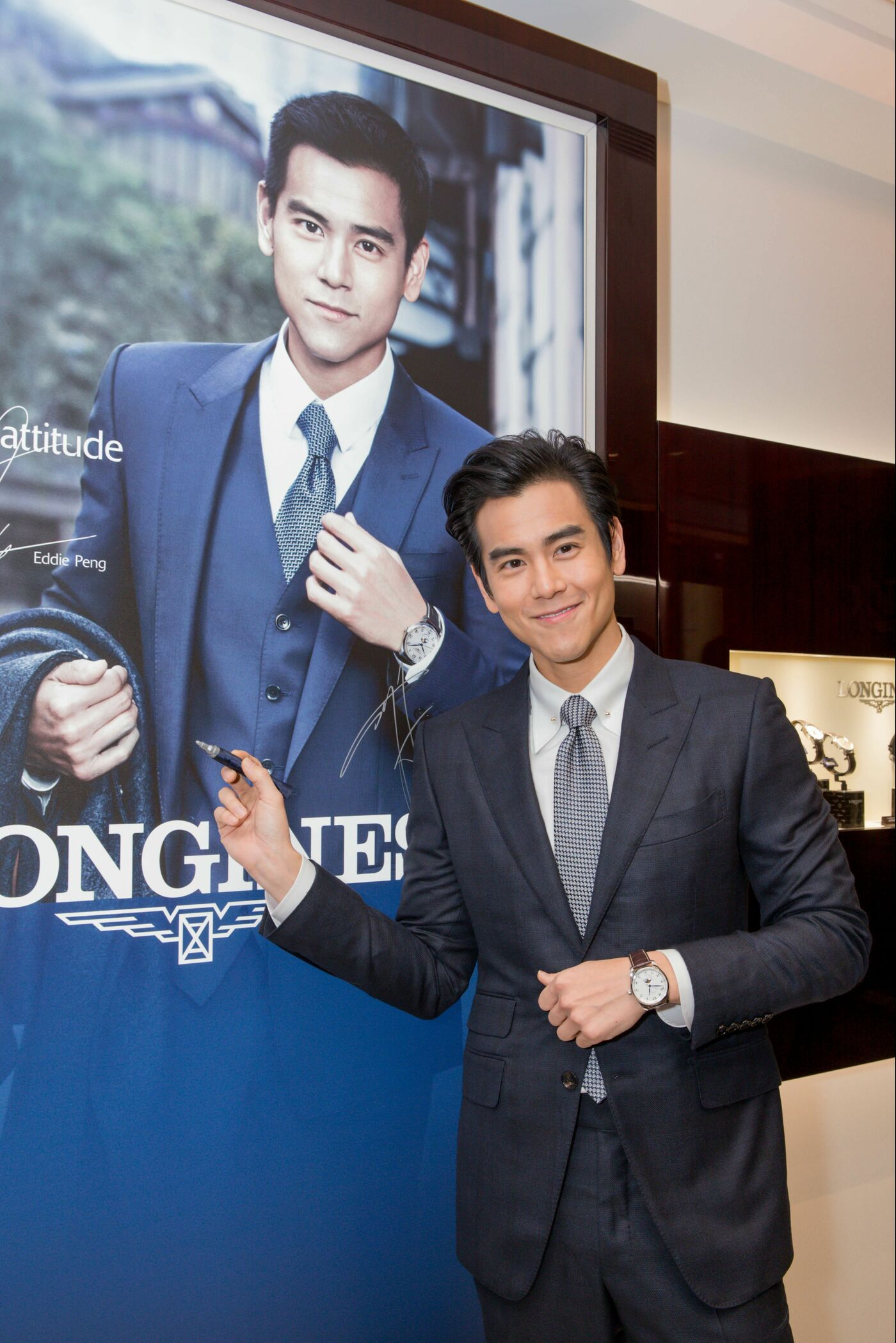Longines Corporate Event: Grand opening of Longines Flagship Boutique and Super Heritage Corner in Macau S.A.R., China in presence of Eddie Peng 3