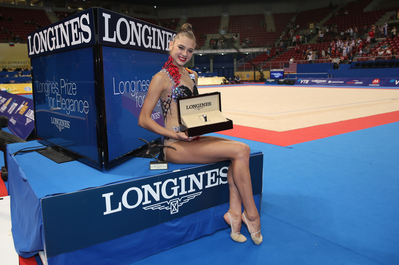 Longines Gymnastics Event: The Longines Prize for Elegance awarded to Aleksandra Soldatova at the 36th Rhythmic Gymnastics World Championships in Sofia 1