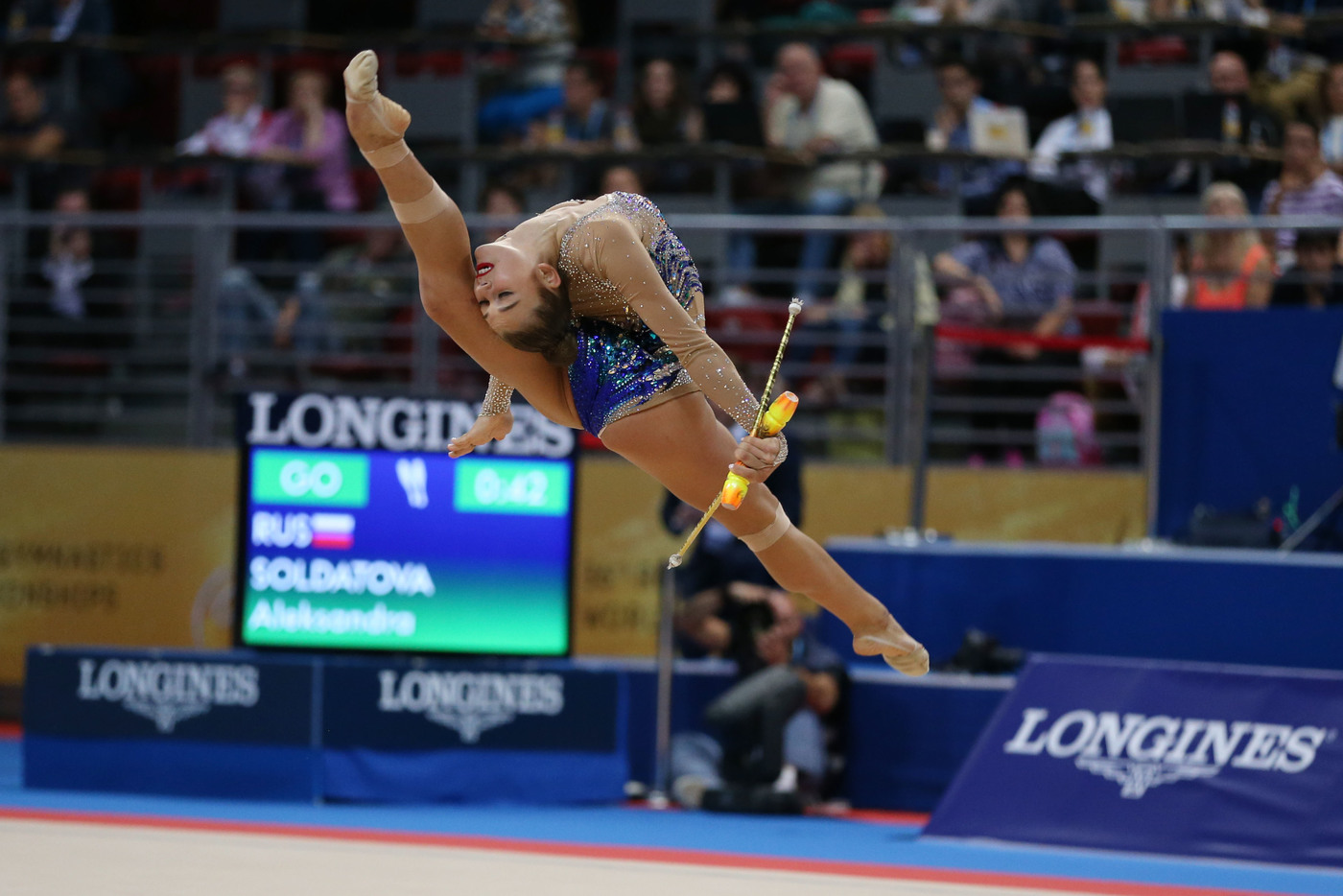 Longines Gymnastics Event: The Longines Prize for Elegance awarded to Aleksandra Soldatova at the 36th Rhythmic Gymnastics World Championships in Sofia 4