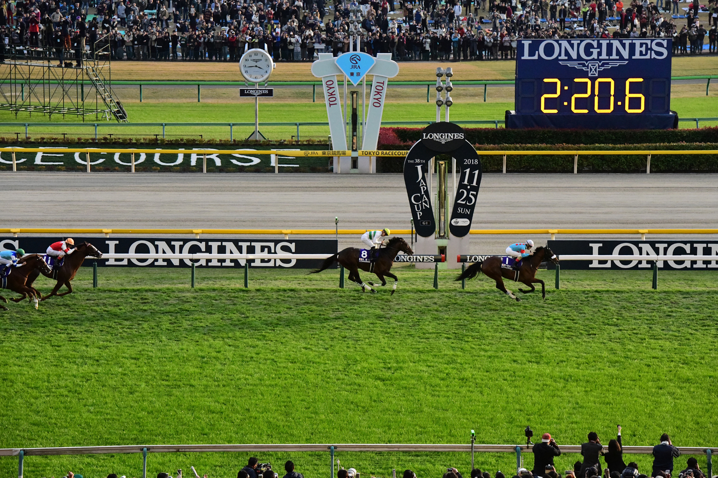 Longines Flat Racing Event: Christophe Lemaire riding Almond Eye galloped to victory in record time at the 38th edition of the Japan Cup in association with Longines  3