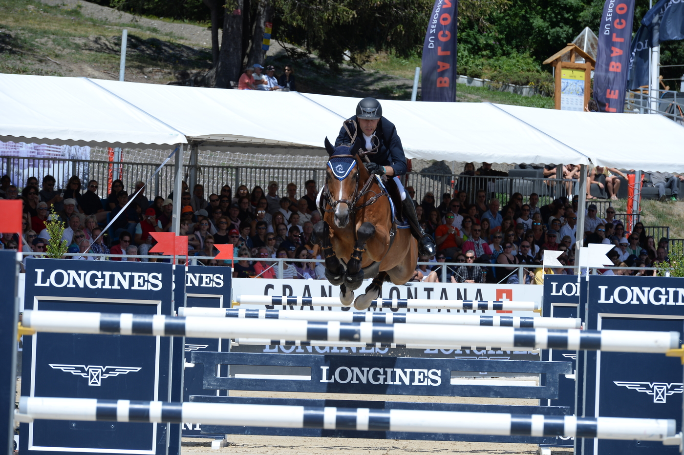 "Longines Show Jumping Event: Wouter Devos (BEL) is the winner of the ""Longines Grand Prix"" in Crans-Montana 3"