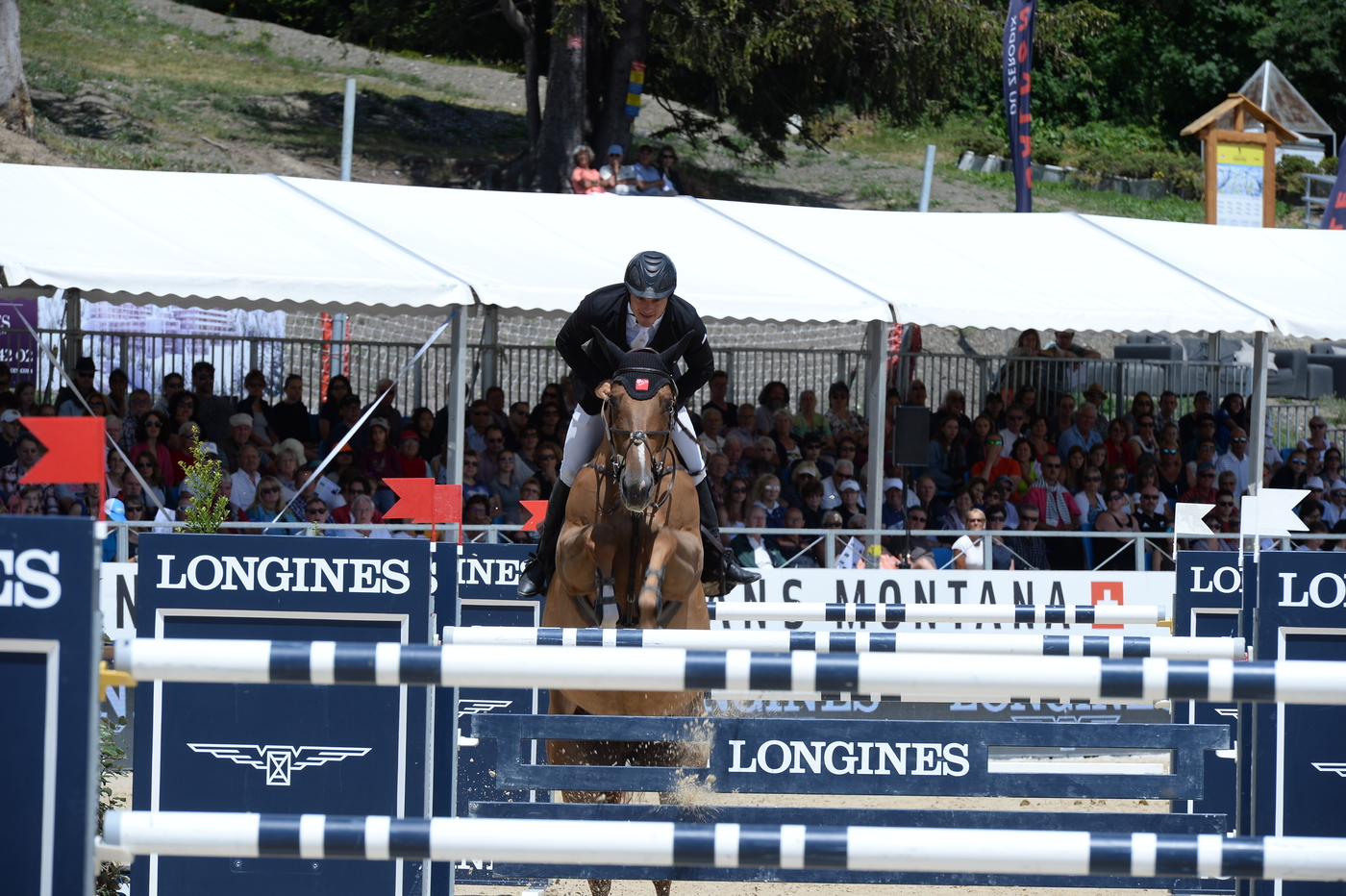 "Longines Show Jumping Event: Wouter Devos (BEL) is the winner of the ""Longines Grand Prix"" in Crans-Montana 2"