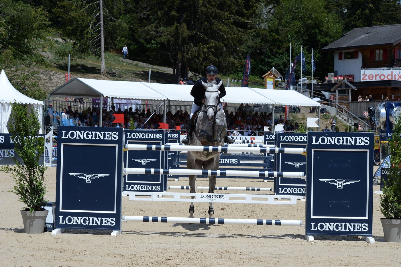 "Longines Show Jumping Event: Wouter Devos (BEL) is the winner of the ""Longines Grand Prix"" in Crans-Montana 4"
