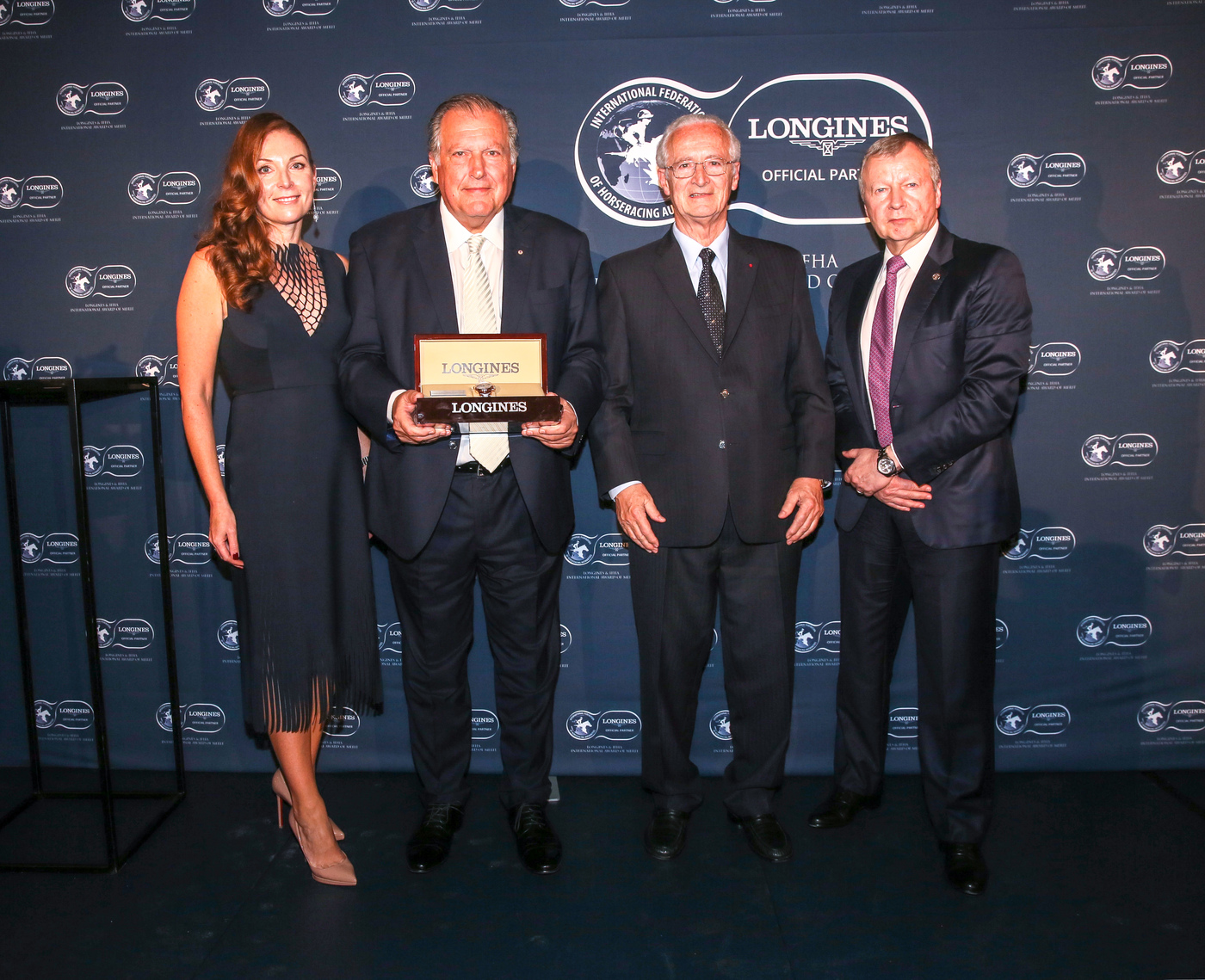 Longines Flat Racing Event: John Messara Receives the 2019 Longines and IFHA International Award of Merit 1