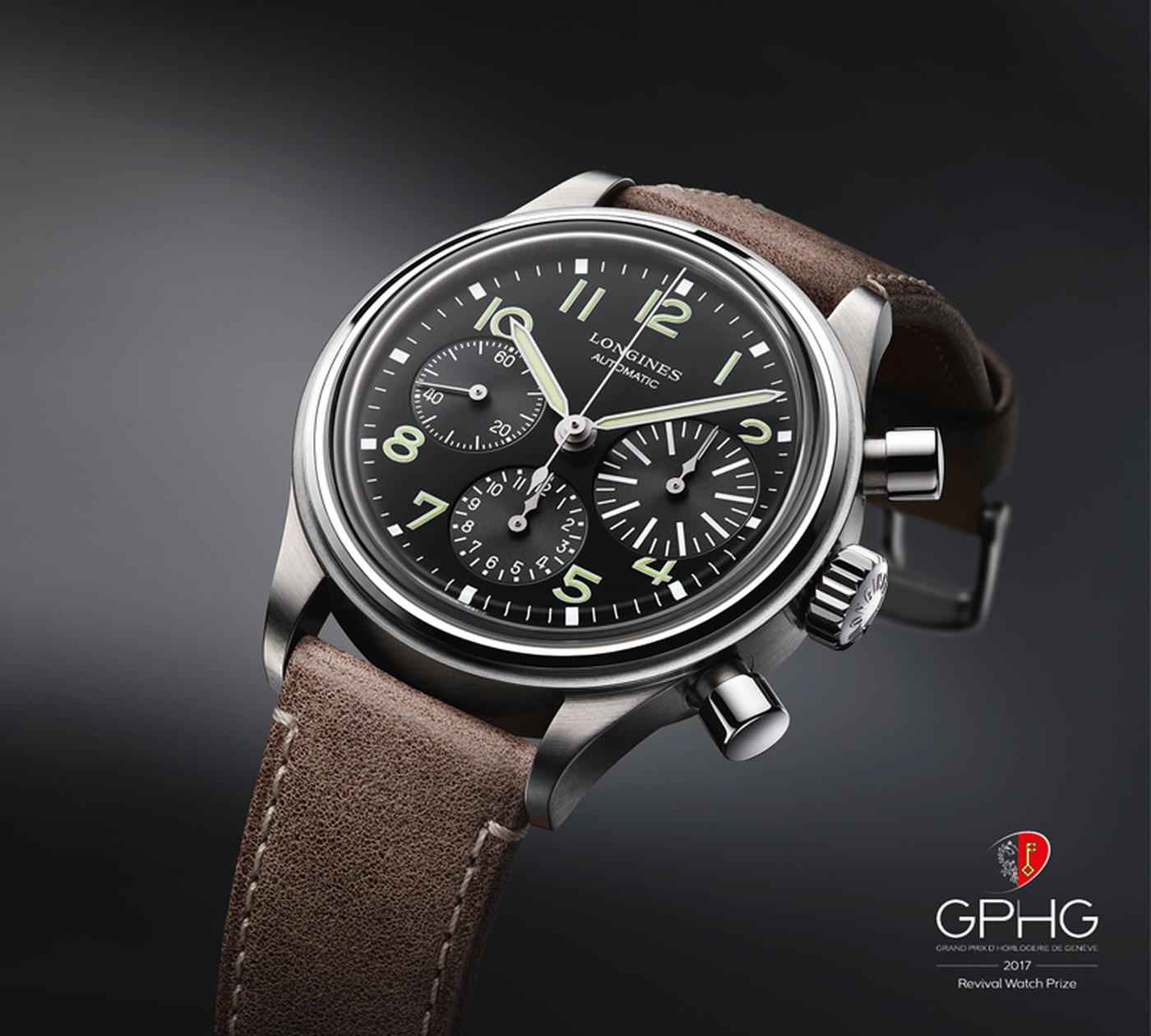 "Longines Corporate Event: The Longines Avigation BigEye: Grand Winner of the Prize ""Revival"" of the 2017 Grand Prix de l'Horlogerie de Genève  1"