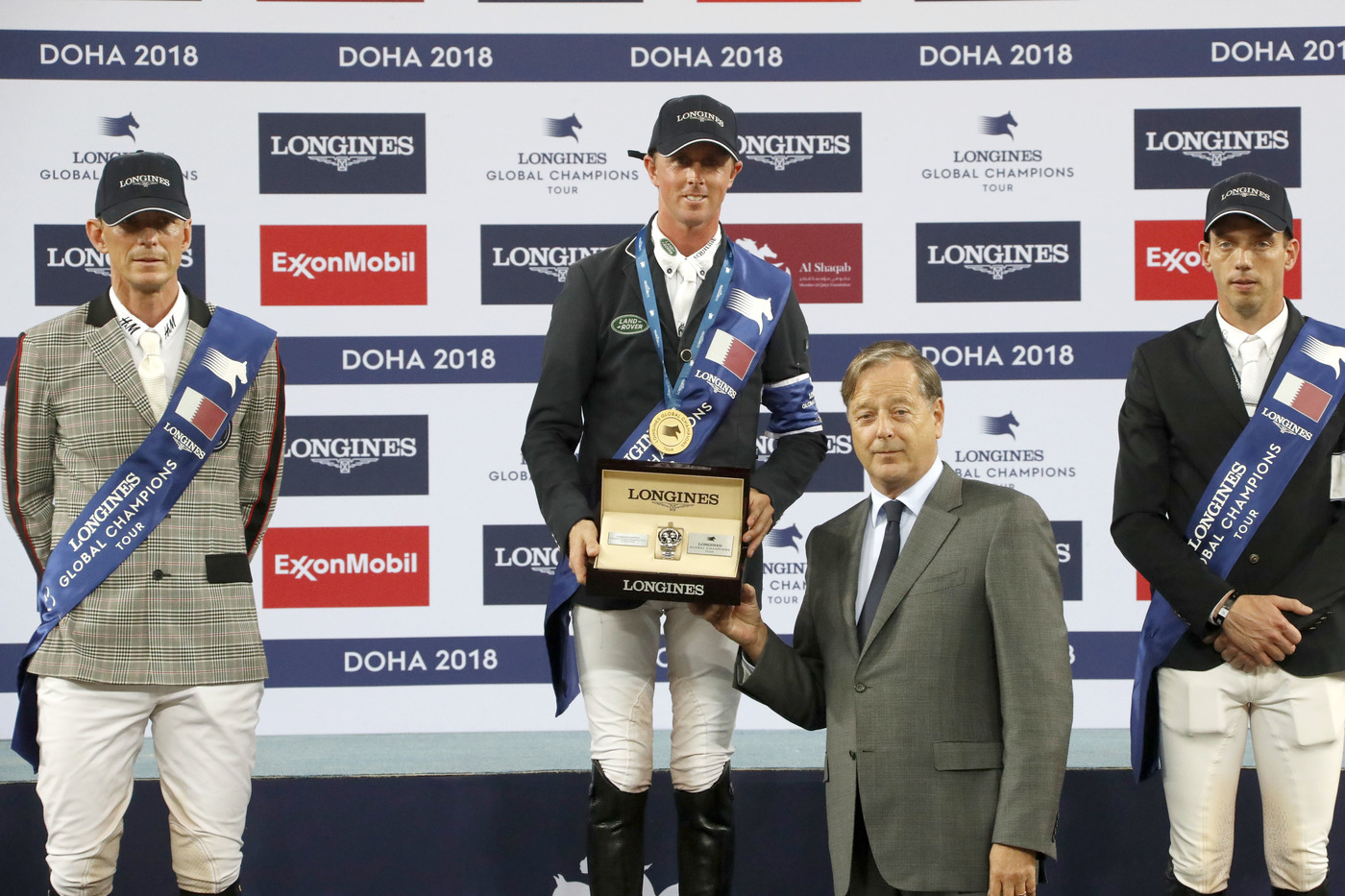 Longines Show Jumping Event: Ben Maher claimed stunning victory at the 2018 Longines Global Champions Tour of Doha 1