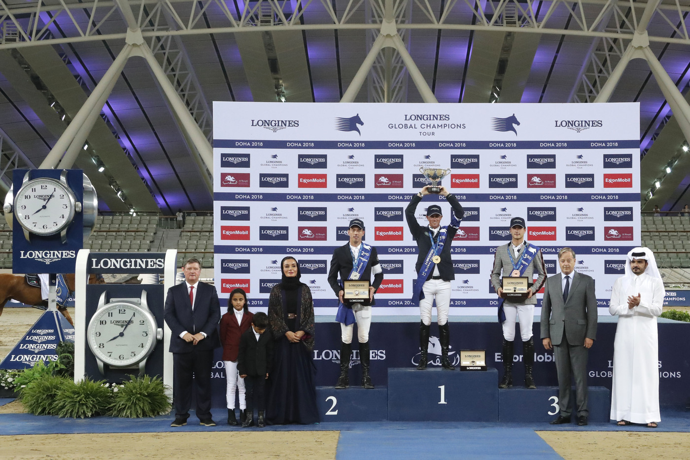 Longines Show Jumping Event: Ben Maher claimed stunning victory at the 2018 Longines Global Champions Tour of Doha 3