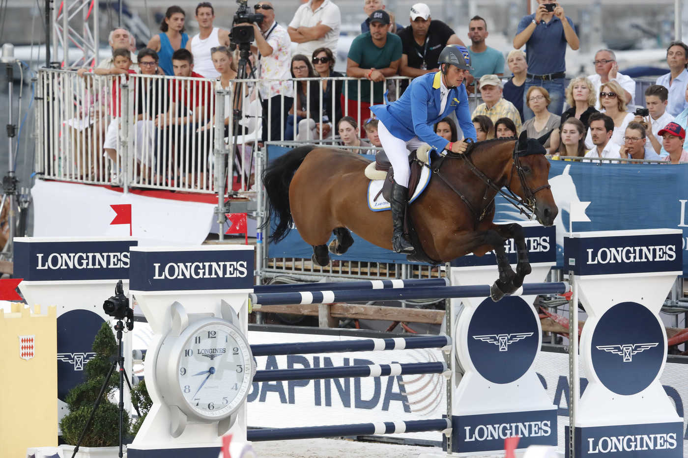 Longines Show Jumping Event: The riders of the Longines Global Champions Tour competed in the magnificent Monaco harbour 1