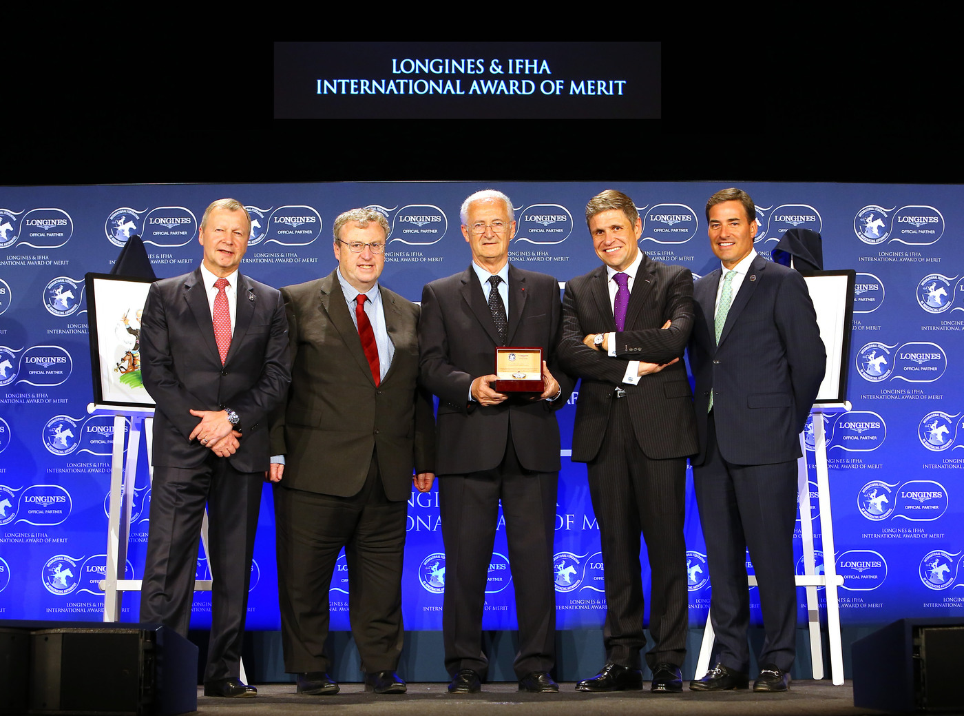 Longines Corporate Event: 2016 Longines and International Federation of Horseracing Authorities (IFHA) International Award of Merit goes to the Romanet Family, long renowned leaders in French and international world of horseracing 5