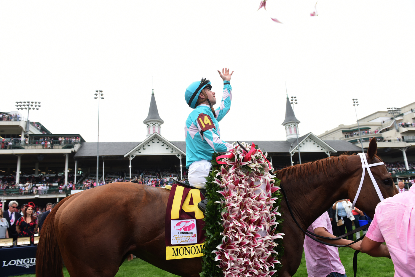 Longines Flat Racing Event: Monomoy Girl's Longines Kentucky Oaks Victory celebrated  at Churchill Downs  3