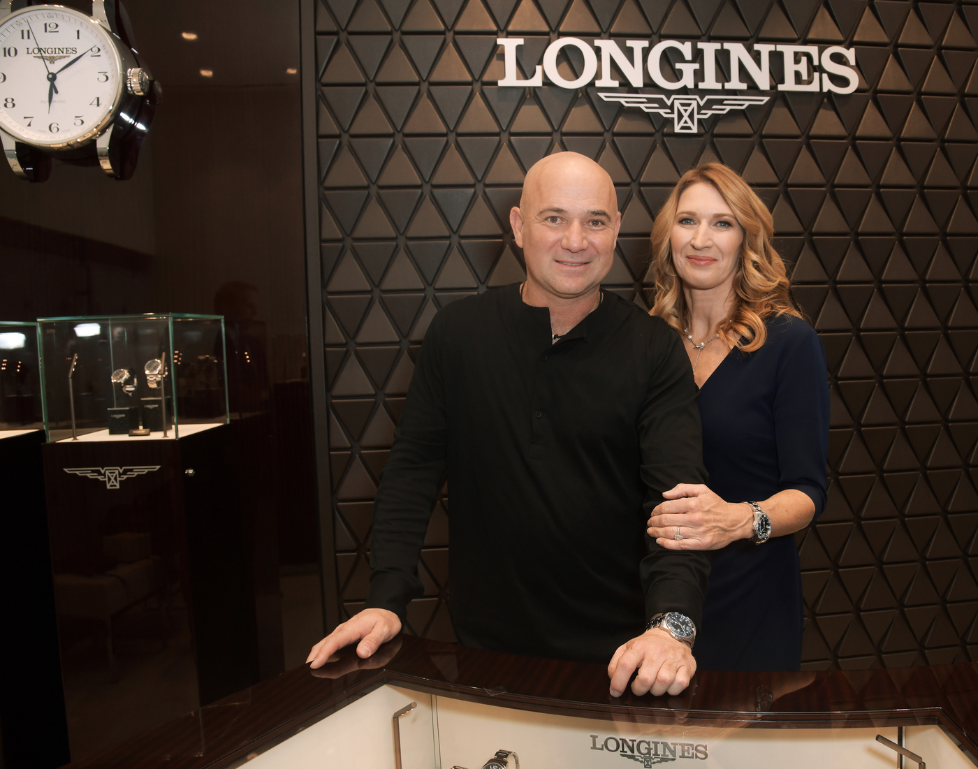 Longines Corporate Event: Andre Agassi and Stefanie Graf inaugurate Longines' new sales corner in Las Vegas  6