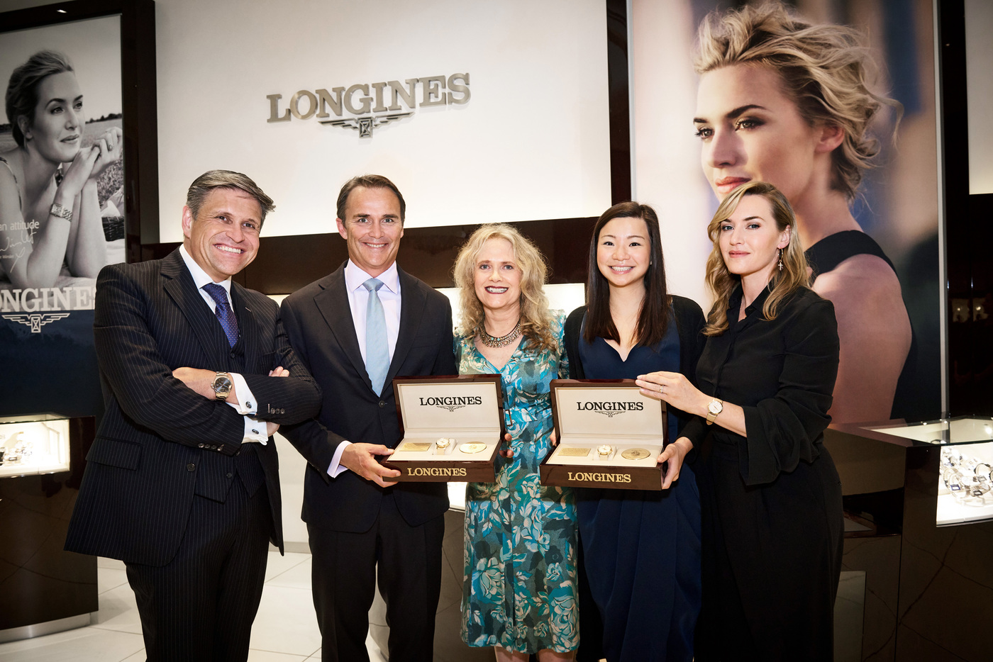 Longines Corporate Event: Longines welcomes its Ambassador of Elegance Kate Winslet in New York for the conclusion of a common charity project for the benefit of the Golden Hat Foundation 1