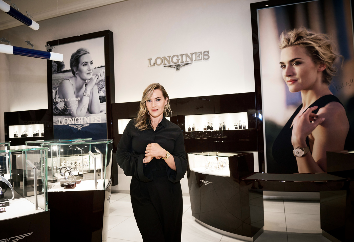 Longines Corporate Event: Longines welcomes its Ambassador of Elegance Kate Winslet in New York for the conclusion of a common charity project for the benefit of the Golden Hat Foundation 6