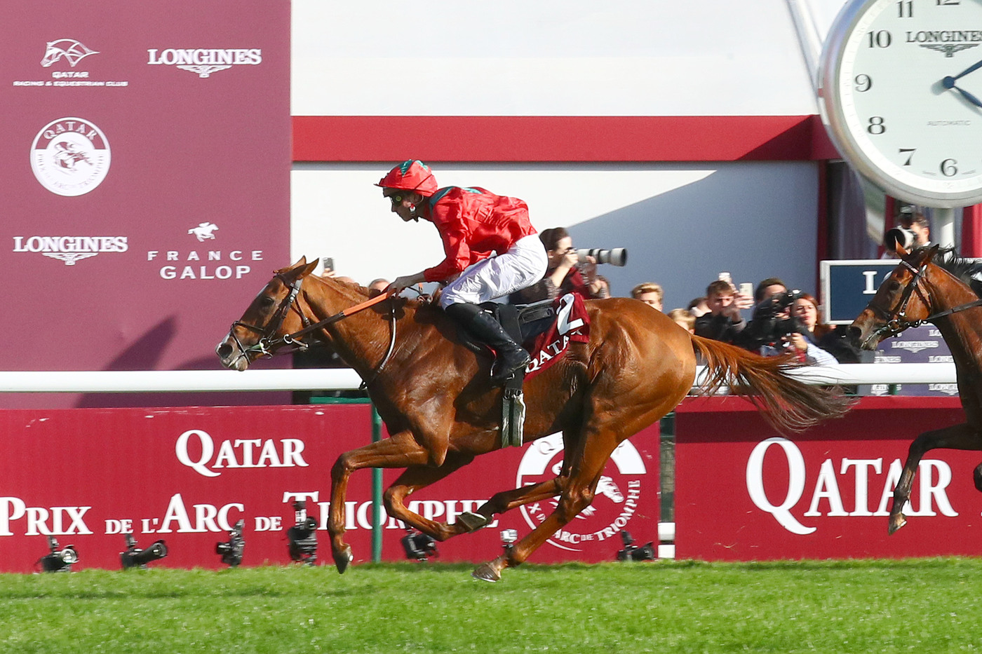 Longines Flat Racing Event: Waldgeist wins the 98th edition of the Qatar Prix de l'Arc de Triomphe 2