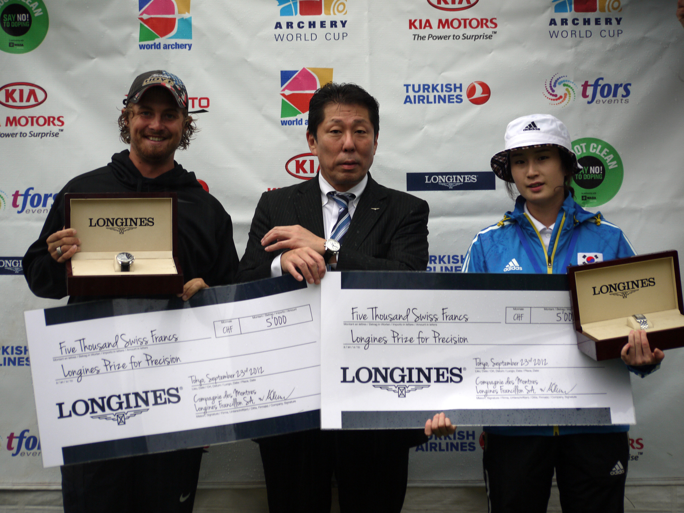 Longines Archery Event: The winners of the 2012 Longines Prize for Precision for archery 1