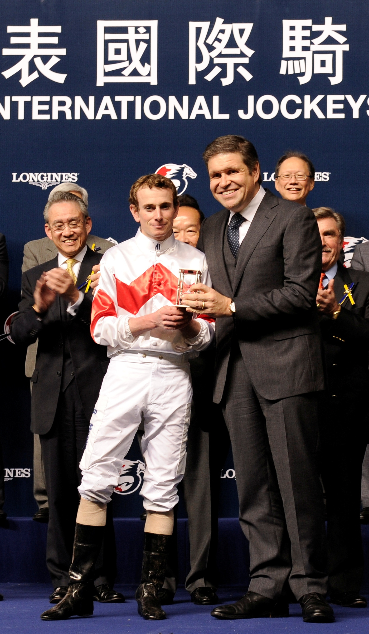 Longines Flat Racing Event: Joao Moreira, winner of the Longines International Jockeys' Championship with the presence of Aaron Kwok Fu Shing 5