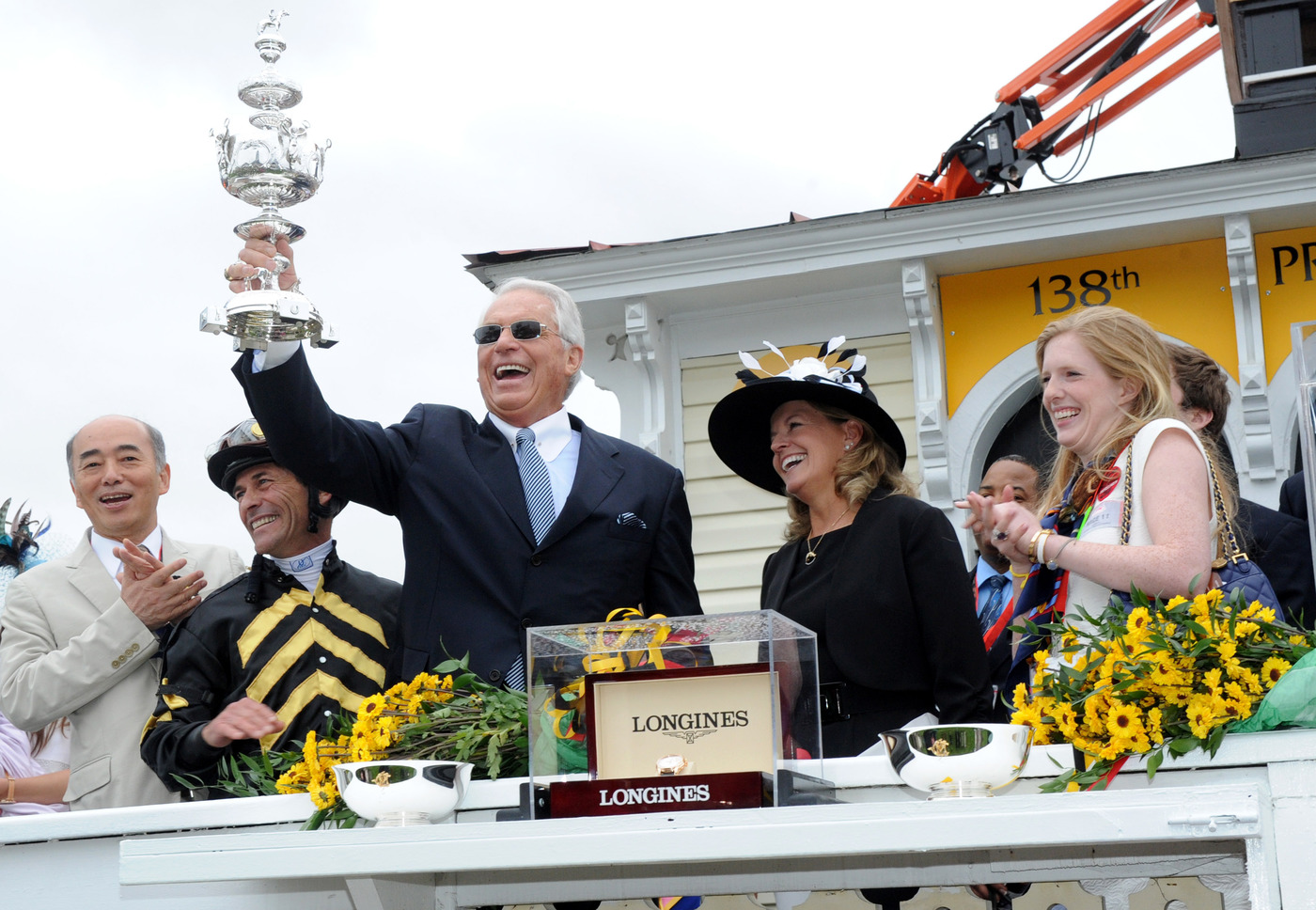 Longines Flat Racing Event: Longines awards luxury timepieces to owner, trainer and jockey of Preakness Stakes winner, Oxbow 3