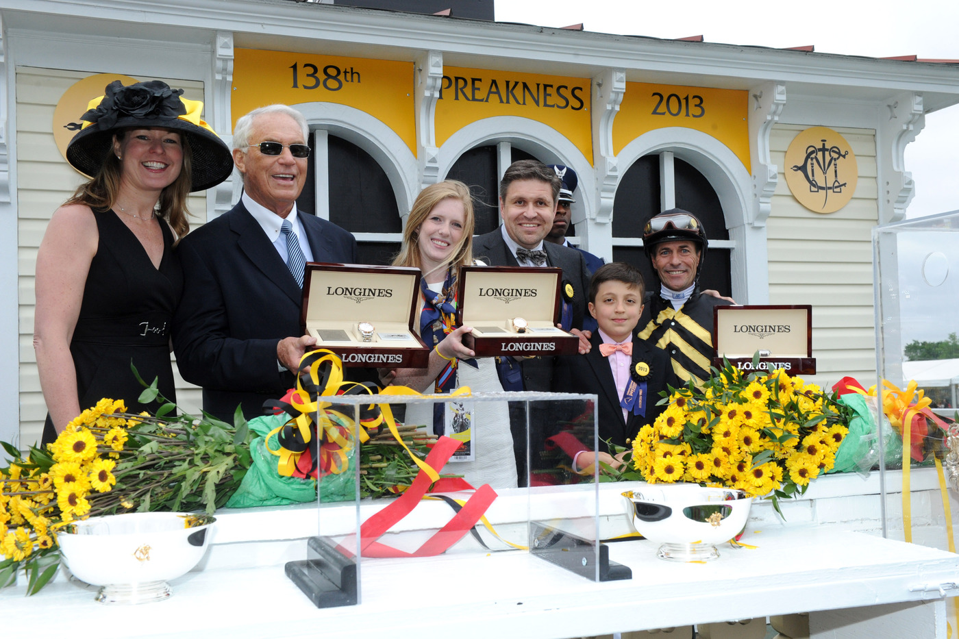 Longines Flat Racing Event: Longines awards luxury timepieces to owner, trainer and jockey of Preakness Stakes winner, Oxbow 4