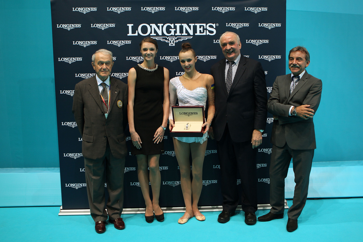 Longines Gymnastics Event: Ukrainian gymnast Ganna Rizatdinova receives the Longines Prize for Elegance in Kiev 2