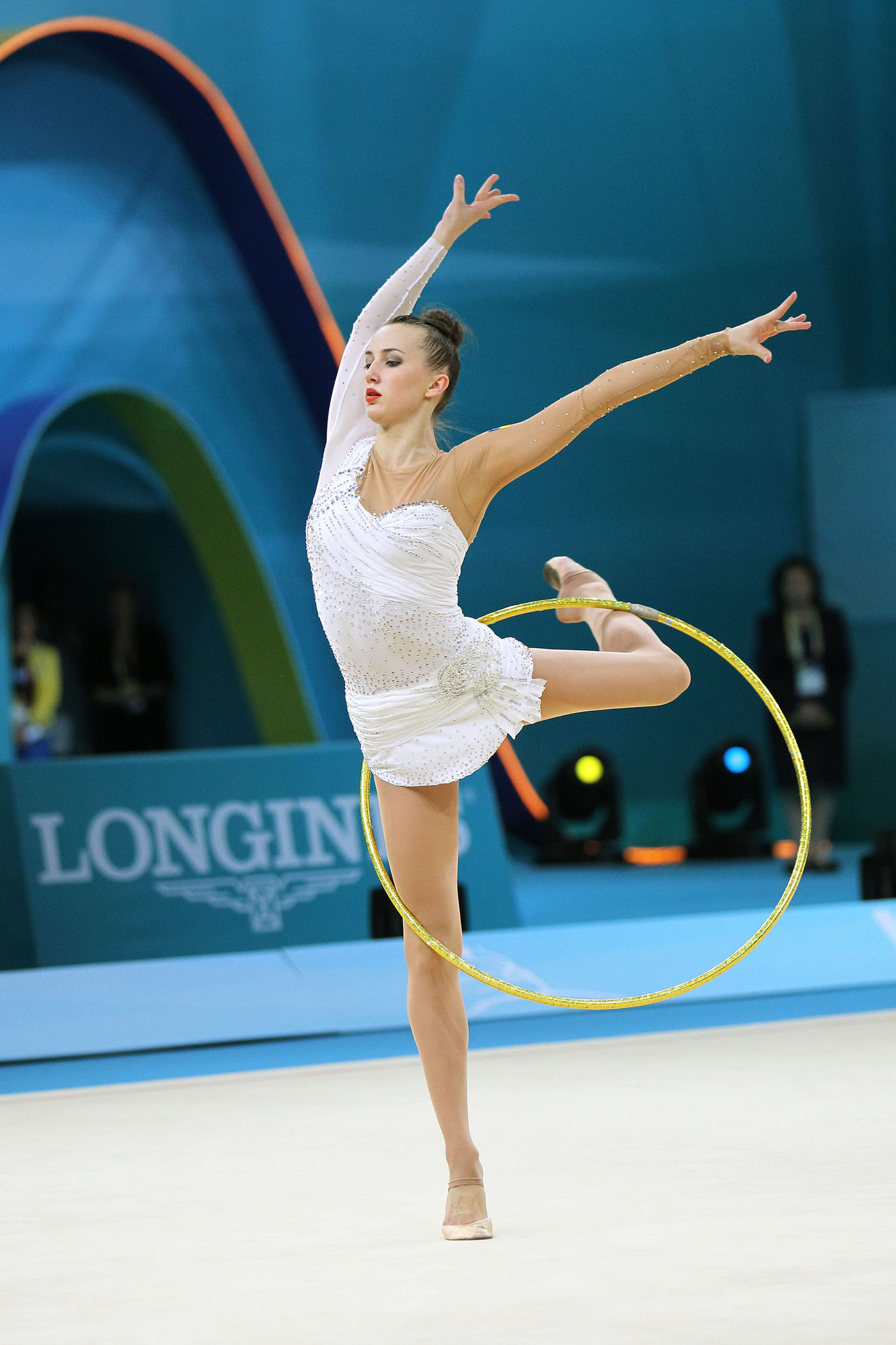 Longines Gymnastics Event: Ukrainian gymnast Ganna Rizatdinova receives the Longines Prize for Elegance in Kiev 4