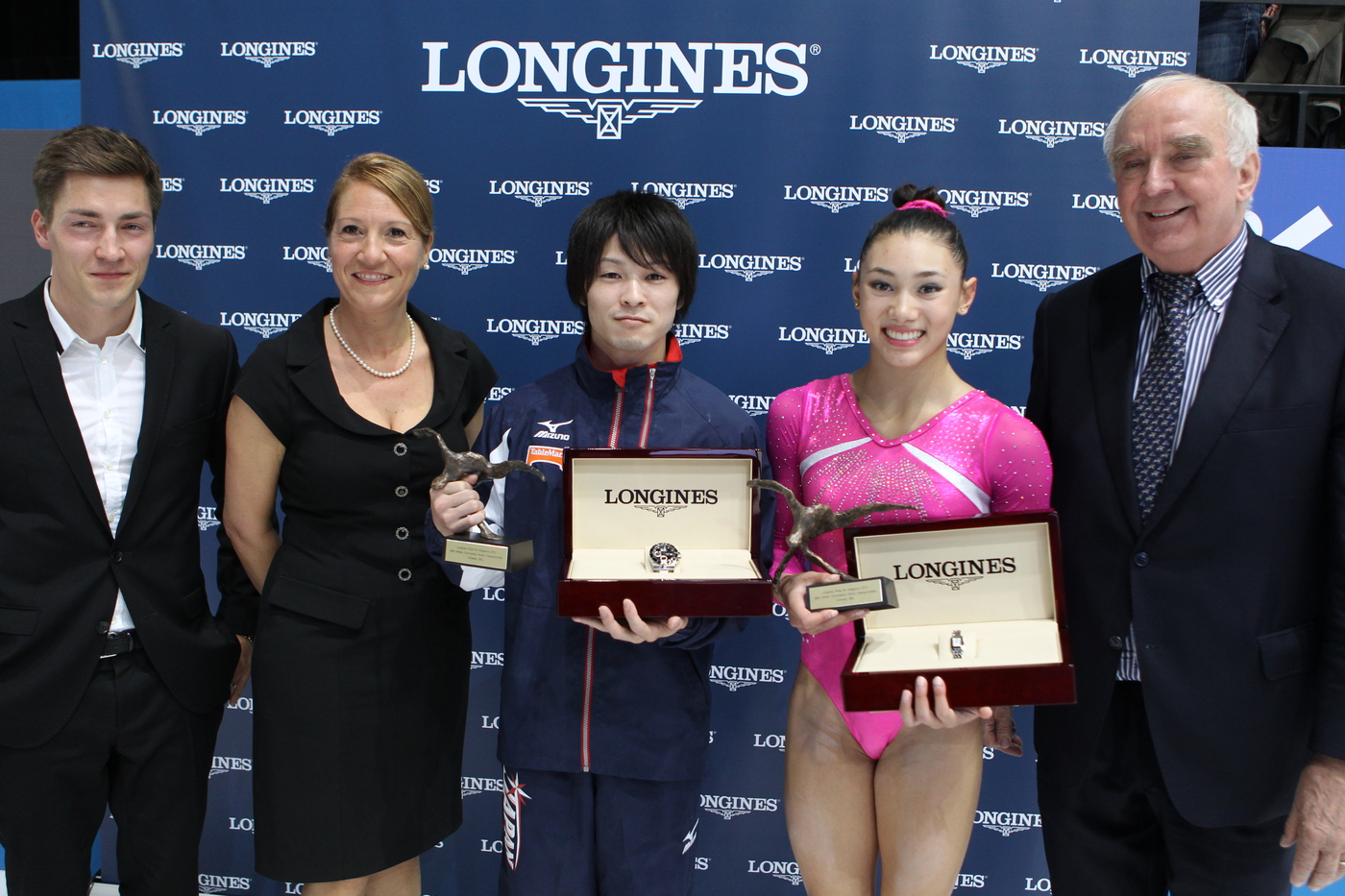 Longines Gymnastics Event: Longines Prize for Elegance awarded to Kyla Ross and Kohei Uchimura at the 44th Artistic Gymnastics World Championships in Antwerp 1