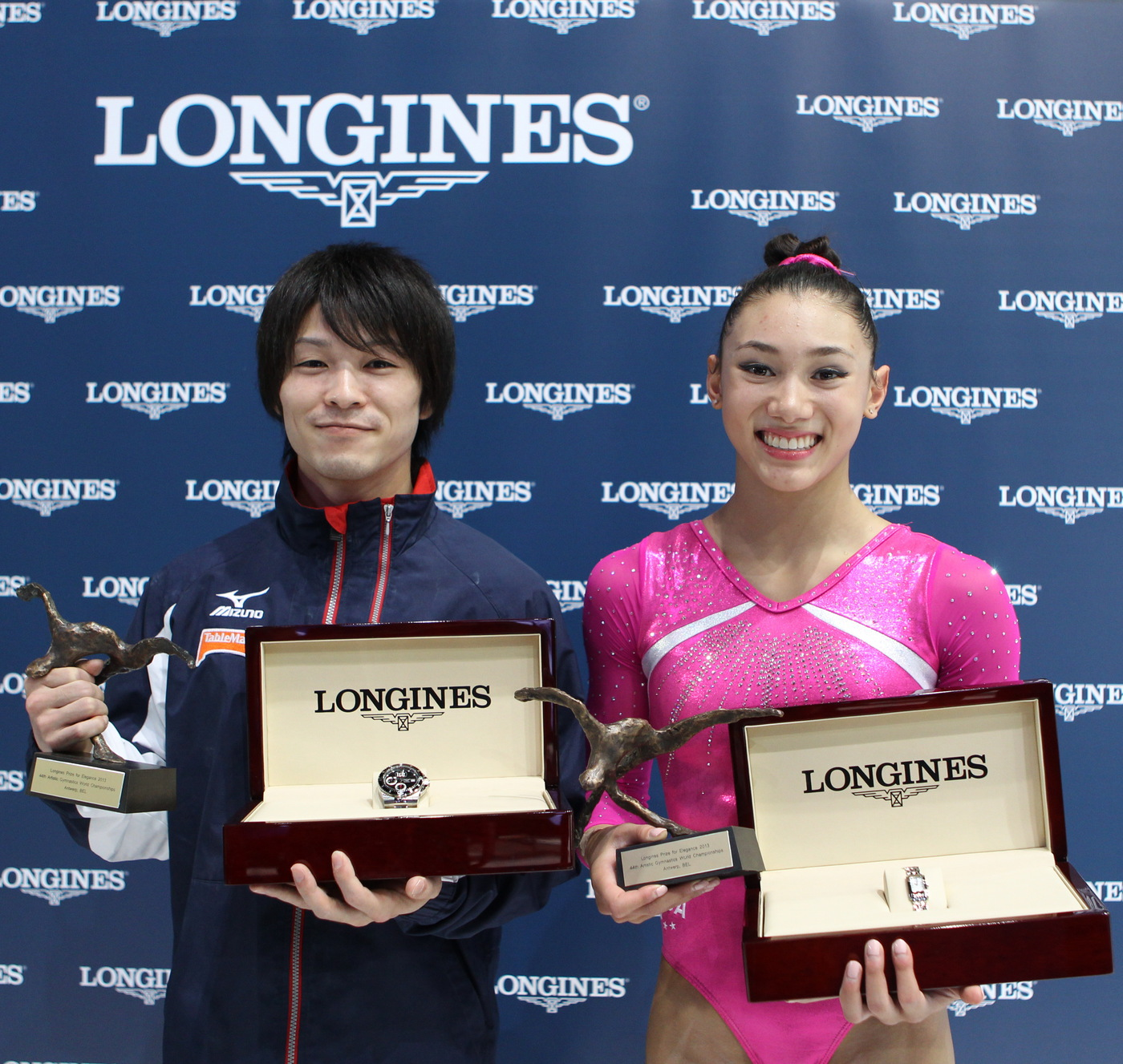 Longines Gymnastics Event: Longines Prize for Elegance awarded to Kyla Ross and Kohei Uchimura at the 44th Artistic Gymnastics World Championships in Antwerp 2