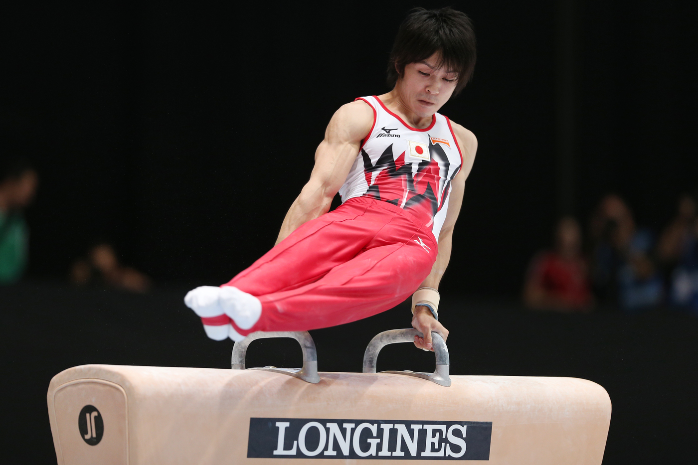 Longines Gymnastics Event: Longines Prize for Elegance awarded to Kyla Ross and Kohei Uchimura at the 44th Artistic Gymnastics World Championships in Antwerp 5