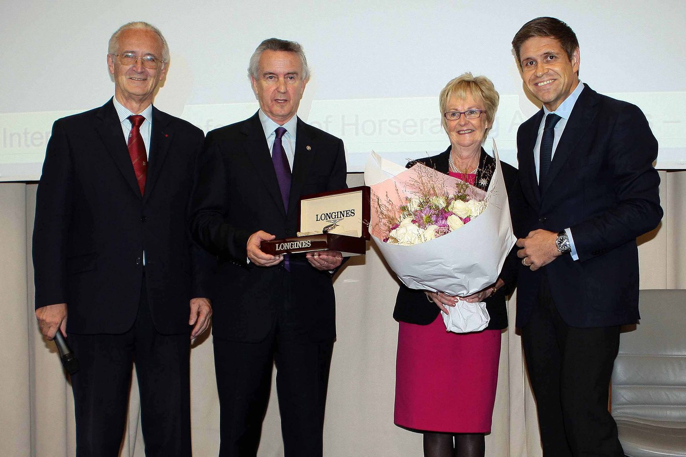 Longines Flat Racing Event: Jim Bolger receives the first Longines and IFHA International Award of Merit 1