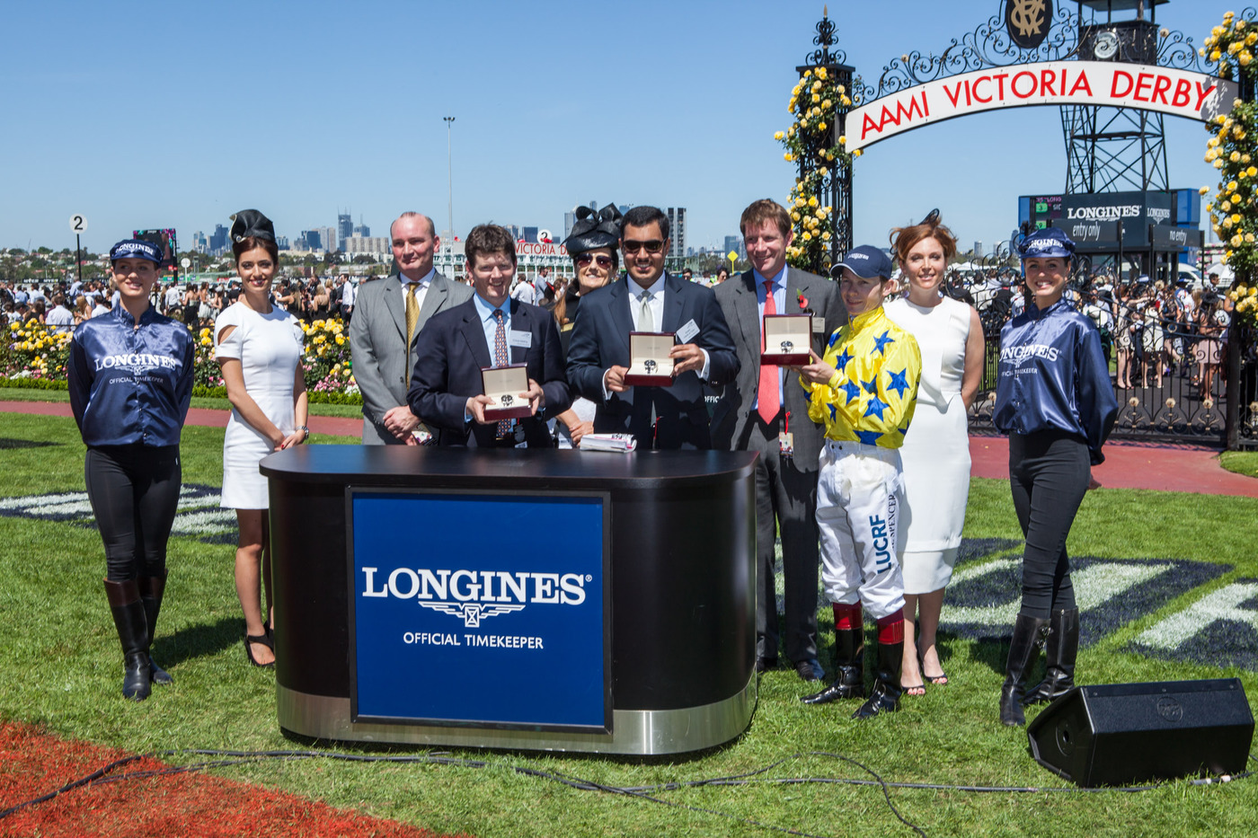 Longines Flat Racing Event: International horse Side Glance and jockey Jamie Spencer win the Longines Mackinnon Stakes for Sheik Fahad Al Thani 2