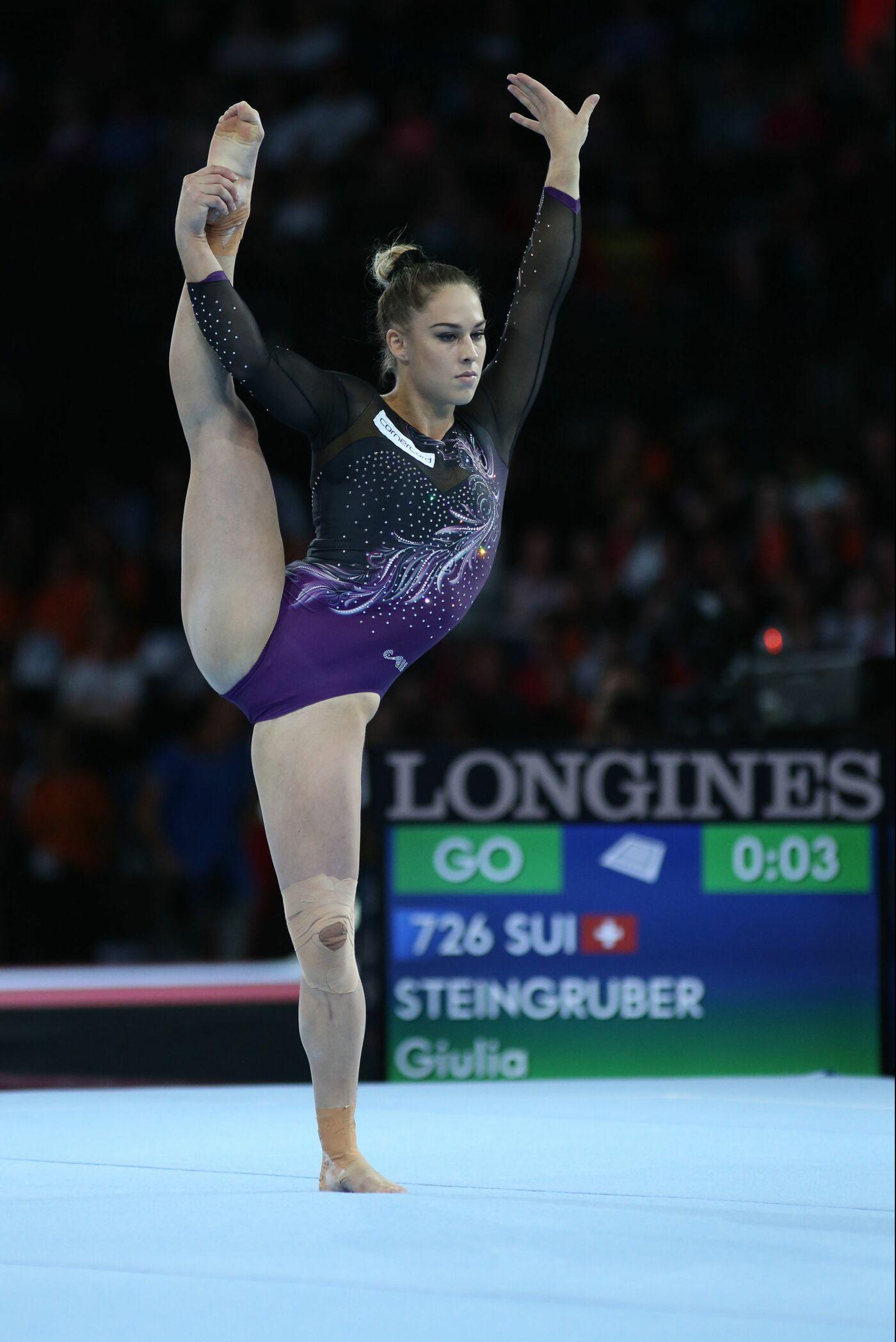 Longines Gymnastics Event: France's Melanie de Jesus dos Santos and USA's Samuel Mikulak were honored with the Longines Prize for Elegance at the 49th Artistic Gymnastics World Championships in Stuttgart 2