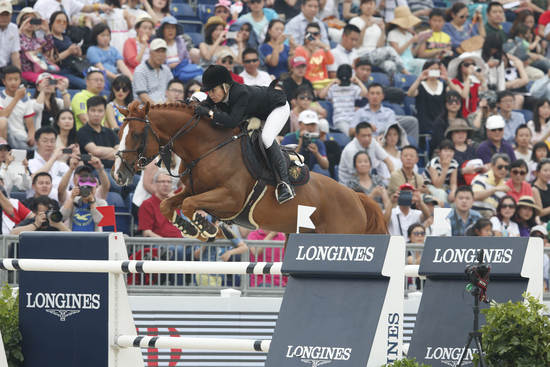 Longines Show Jumping Event: Longines Ambassador of Elegance Eddie Peng at the Longines Global Champions Tour of Shanghai 7