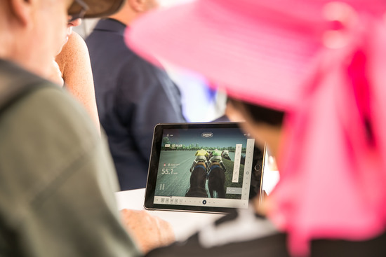 Longines Flat Racing Event: Longines launched its new second screen application during the Longines Grosser Preis von Berlin won by Adrie de Vries riding Dschingis Secret 2