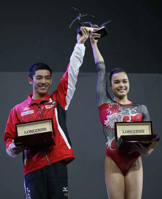 Longines Gymnastics Event: Canada's Brooklyn Moors and Japan's Kenzo Shirai presented with the Longines Prize for Elegance at the 47th Artistic Gymnastics World Championships in Montréal  3