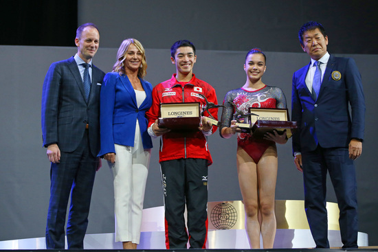 Longines Gymnastics Event: Canada's Brooklyn Moors and Japan's Kenzo Shirai presented with the Longines Prize for Elegance at the 47th Artistic Gymnastics World Championships in Montréal  2