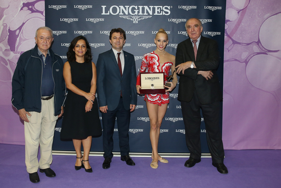 Longines Gymnastics Event: The Longines Prize for Elegance awarded to Yana Kudryavtseva at the 33rd Rhythmic Gymnastics World Championships 2014 in Izmir 2