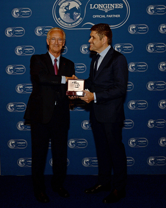 Longines Flat Racing Event: Alec Head receives the Longines and IFHA International Award of Merit 2014 (Paris, FRANCE)  1