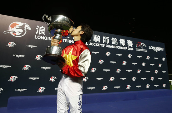Longines Flat Racing Event: Remarkable victory of Yuichi Fukunaga at the Longines International Jockey's Championship 2014 3