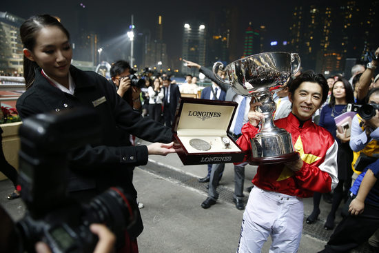 Longines Flat Racing Event: Remarkable victory of Yuichi Fukunaga at the Longines International Jockey's Championship 2014 4
