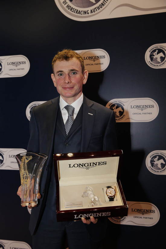 Longines Flat Racing Event: Ryan Moore crowned Longines World's Best Jockey 2014 at the Longines Hong Kong International Races Gala Dinner  2