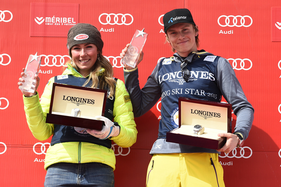 Longines Alpine Skiing Event: Longines awards the Longines Rising Ski Stars Prize to Mikaela Shiffrin and Henrik Kristoffersen 1