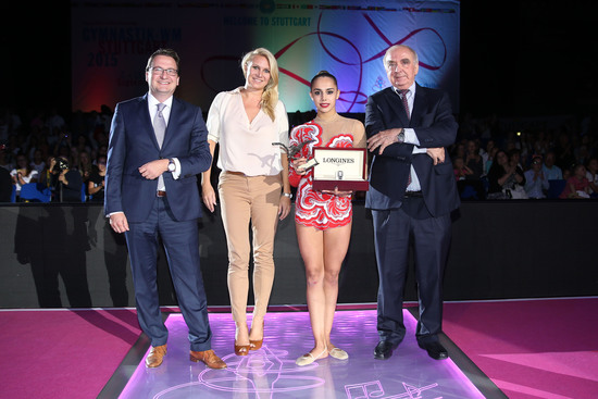 Longines Gymnastics Event: Margarita Mamun awarded with the Longines Prize for Elegance at the 34th Rhythmic Gymnastics World Championships 2015 4
