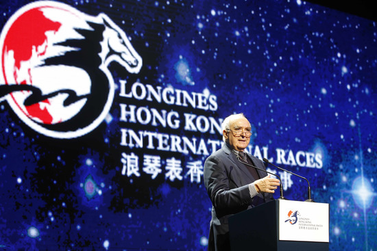 "Longines Flat Racing Event: Lanfranco ""Frankie"" Dettori honoured at the second Longines World's Best Jockey Award ceremony 1"
