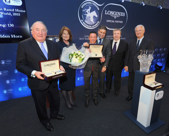 Longines Flat Racing Event: American Pharoah named 2015 Longines World's Best Racehorse, Qatar Prix de l'Arc de Triomphe wins 2015 Longines World's Best Horse Race 5