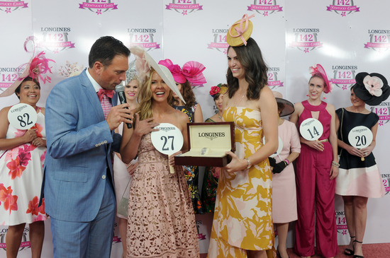 Longines Flat Racing Event: Winner of the 2016 Longines Kentucky Oaks Race Celebrated by Swiss Watch Brand Longines in front of record crowd 2