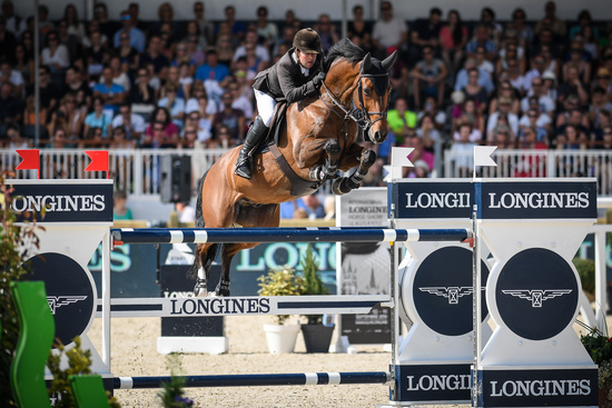 Longines Show Jumping Event: Robert Whitaker (GBR) wins the Grand Prix Longines of the City of Lausanne 1
