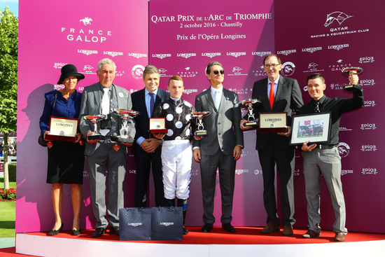 Longines Flat Racing Event: Longines timed the victory of Found and Ryan Moore at the 2016 Qatar Prix de l'Arc de Triomphe 2