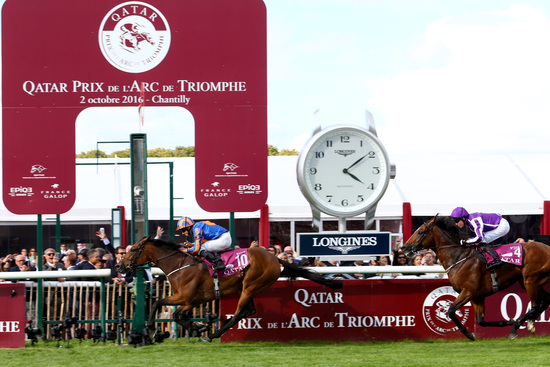 Longines Flat Racing Event: Longines timed the victory of Found and Ryan Moore at the 2016 Qatar Prix de l'Arc de Triomphe 4