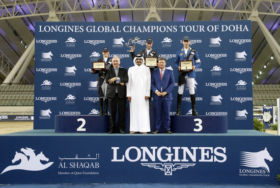 Longines Show Jumping Event: Rolf-Göran Bengtsson won the Longines Global Champions Tour 2016 after a final full of suspense in Doha 1
